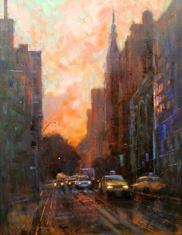"""""""Streets of Manhattan-SOLD"""" - Open Edition Print by Chin h Shin"""