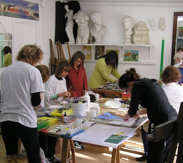 COLLAGE-PAINTING Classes at Taller 4 Pintors, Barcelona