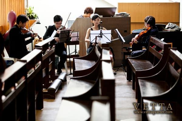 String Quartet at Church Mass