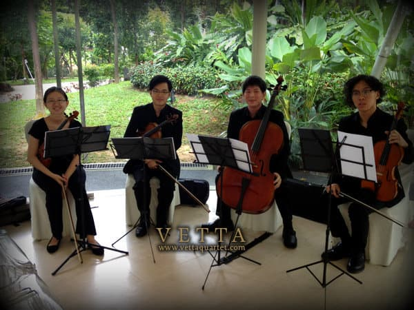 wedding string quartet at amara sanctuary