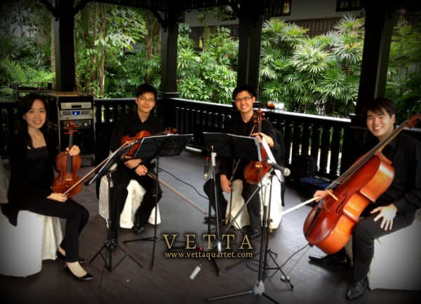 String Quartet - Solemnisation at Raffles Hotel The Lawn