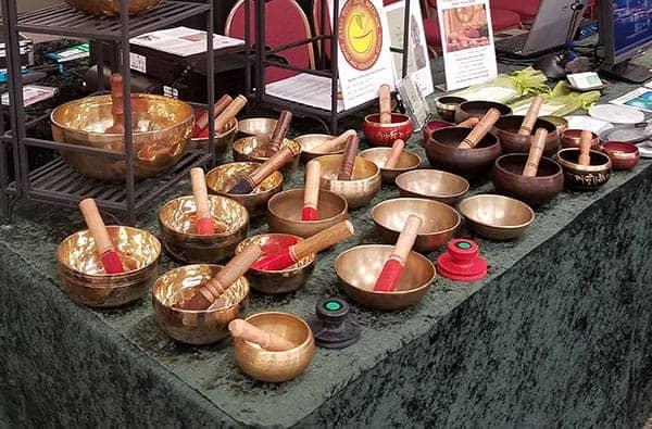 several of Frank Dicristina's singing bowls