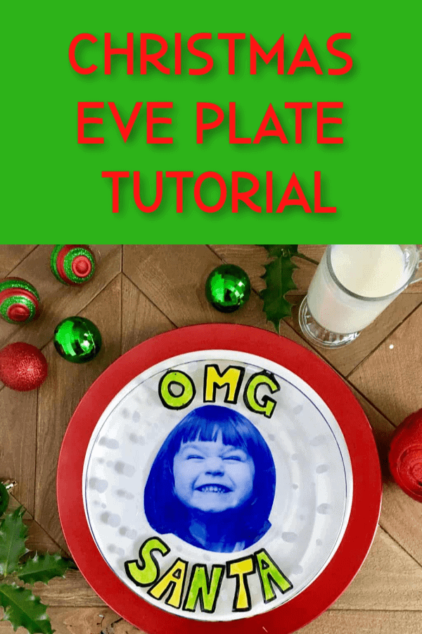 diy christmas eve plate tutorial