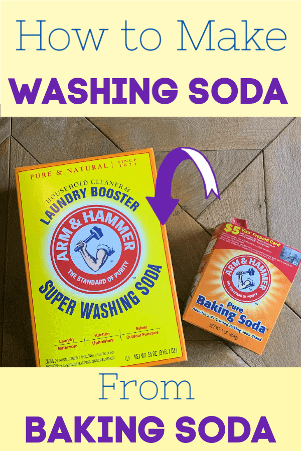 Washing soda vs baking soda