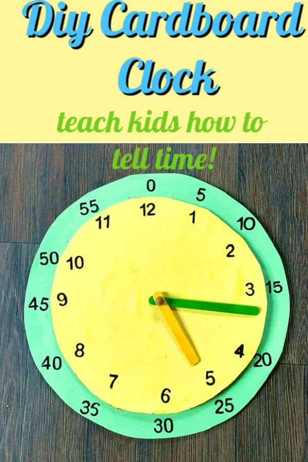 how to make a cardboard clock to help kids learn how to tell time