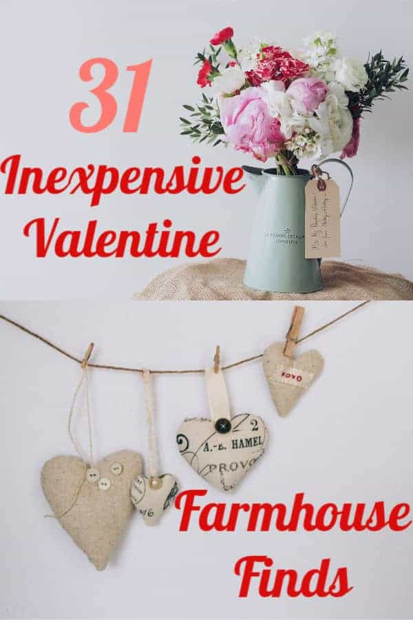 inexpensive farmhouse valentines day decor
