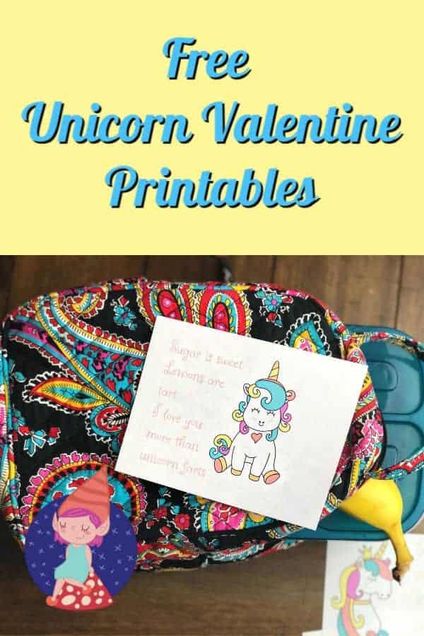free unicorn valentine printables