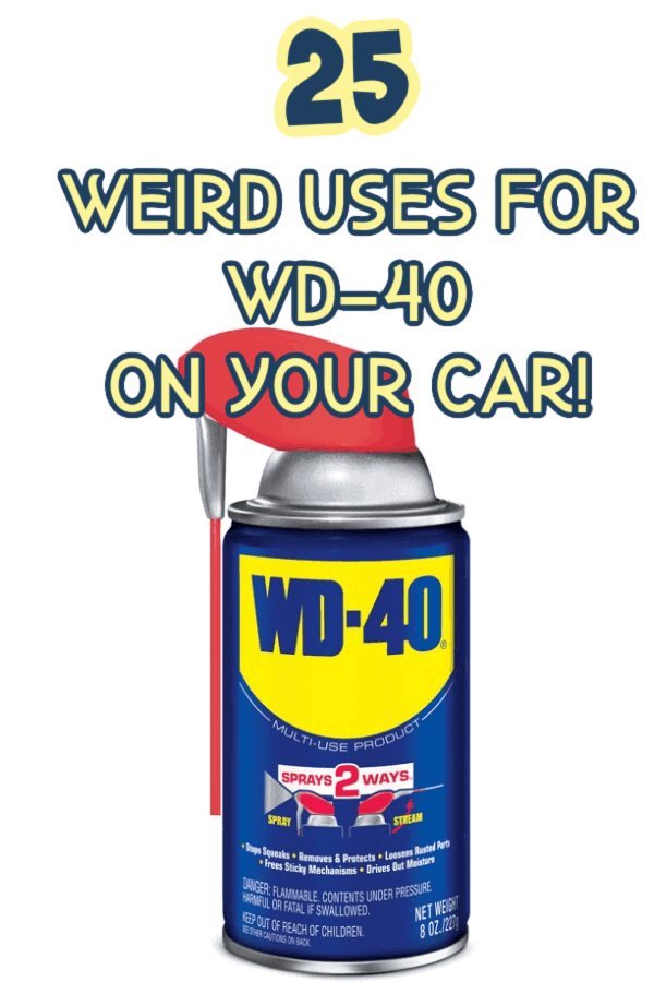 uses for WD-40 on your car