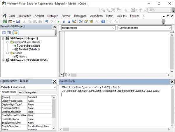Excel Insights: Speicherort der personal.xlsb per VBA ermitteln