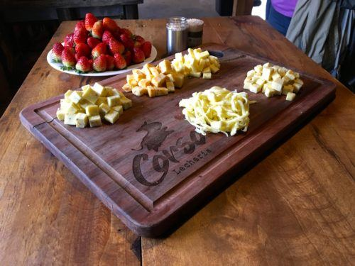 Corso dairy farm raise cows, makes cheese and grows strawberries.