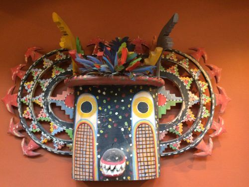 an Indian Mask in the La Fonda hotel