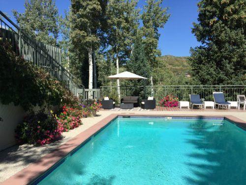 The pool at top of the village condos in colorado