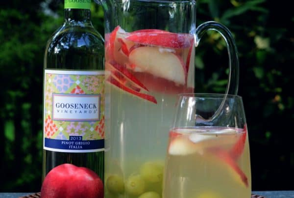 Peach Sangria Recipe from Gooseneck Vineyards