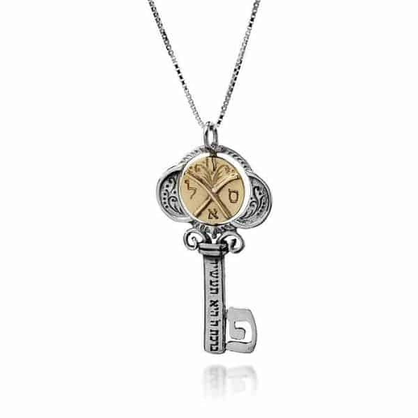 Tikun Klali Key Kabbalah Necklace with a Rotating Coin