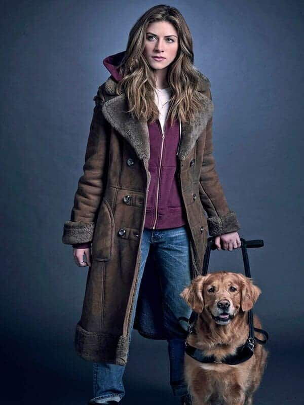 Tv Series In the Dark Perry Mattfeld Suede Leather Coat 2