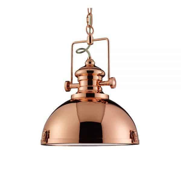 2297CU – Searchlight Industrial Pendant 1 Light Copper