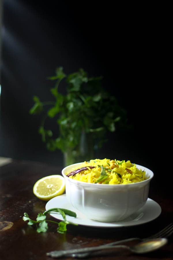 Lemon Rice - South Indian Rice With Lemon and Peanuts