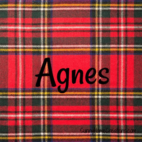 Agnes - Scottish Girl Names