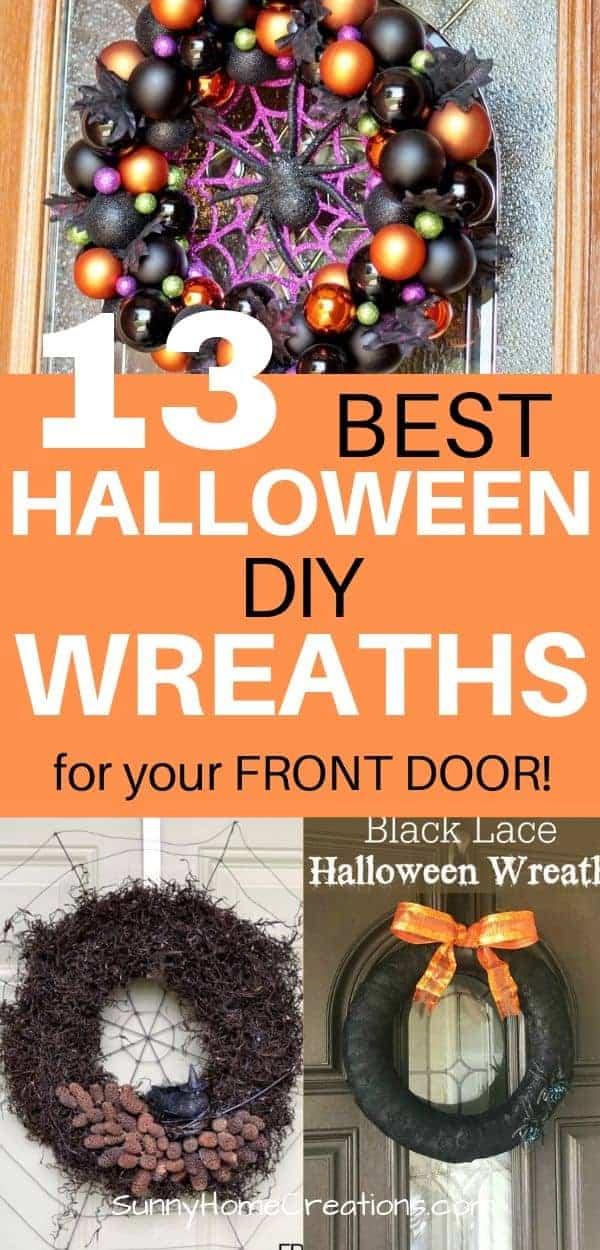 13 DIY Halloween Wreaths Pinterest in