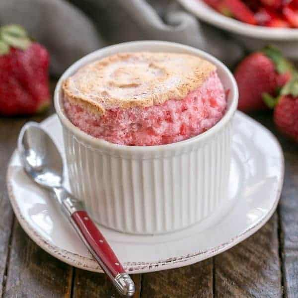 Strawberry Soufflés with Fresh Strawberries | An elegant berry dessert you can make at home!