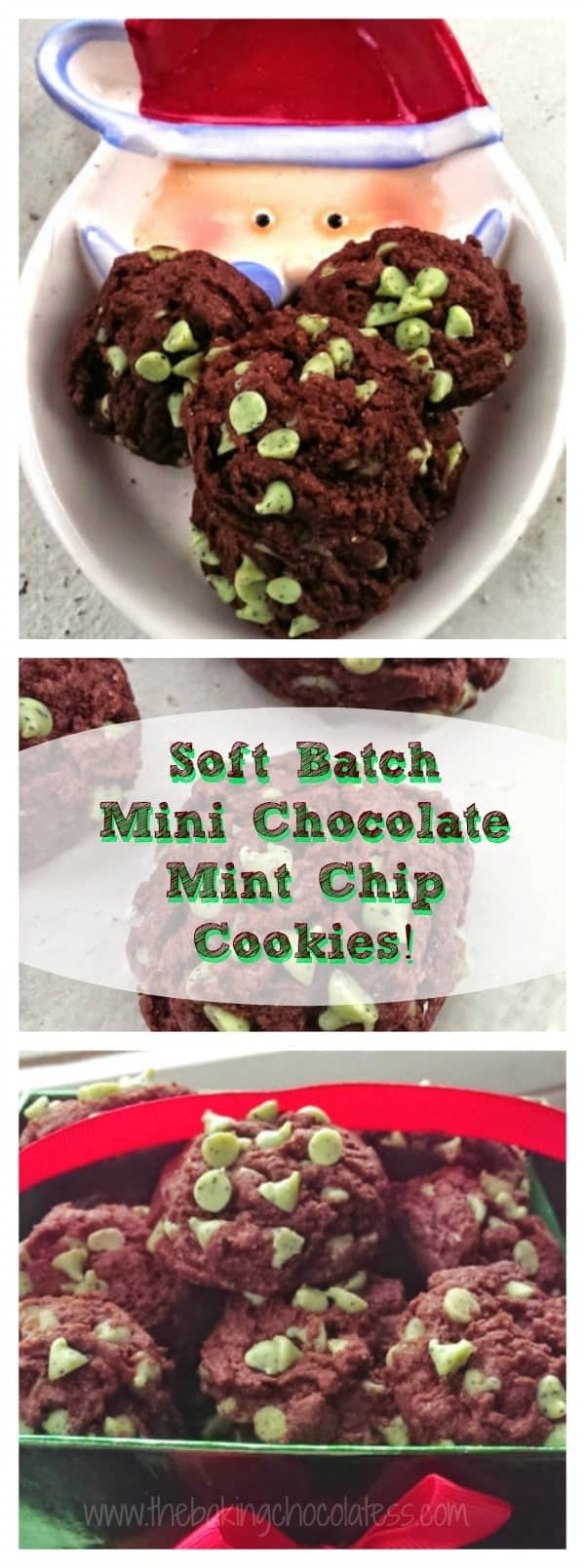 Soft Batch Mini Chocolate Mint Chip Cookies! {Fudgy too!}