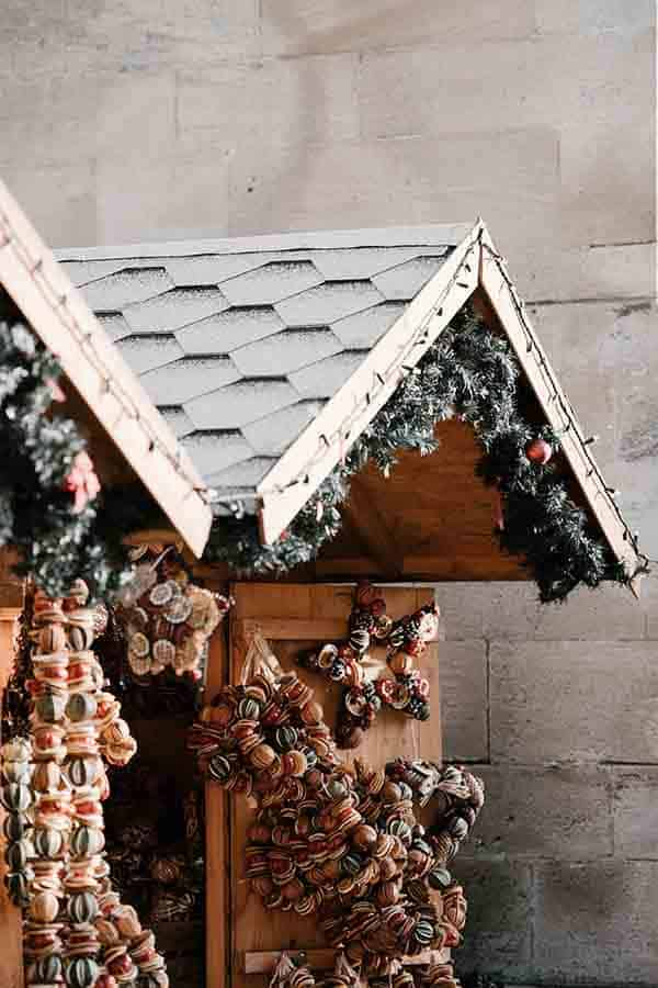 Christmas Market Europe Tips- buy many of these garlands. They make your home smell AMAZING!!