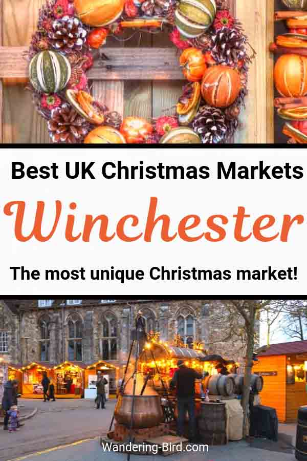 Looking for UK Christmas Market ideas? Winchester Christmas Market is one of the most unique Christmas markets in Europe! Set in the grounds of Winchester Cathedral, England, it's a beautiful place for Christmas shopping and festive atmosphere. There's also mulled wine and food! #christmasmarket #europetravel #winchester #england