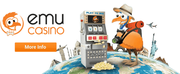 Play EMU slots and live dealer for free!
