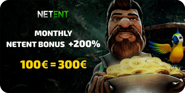 200% bonus on netent casino games