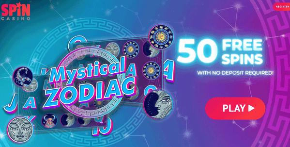 50 Free Spins on registration, no deposit required!