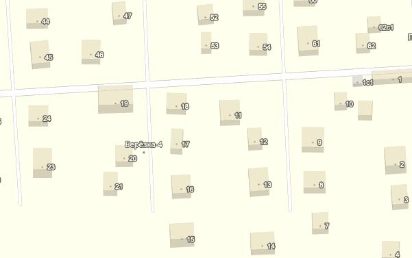 Карта СНТ Березка-4