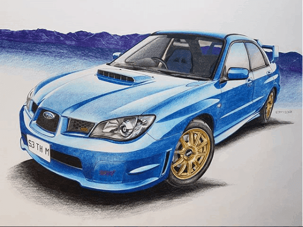 A3 Marker Drawing of your car