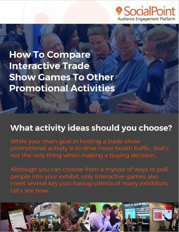 Trade show activity comparison tool