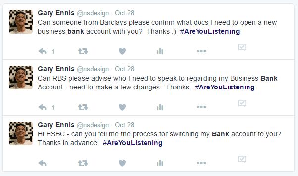 Tweeting the UK Banks