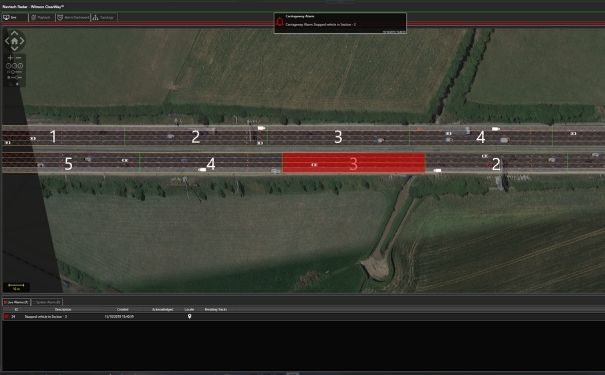 ClearWay interfaceshowin stopped vehicle detection technology in action