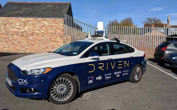 Picture of Oxbotica car for autonomous vehicle testing