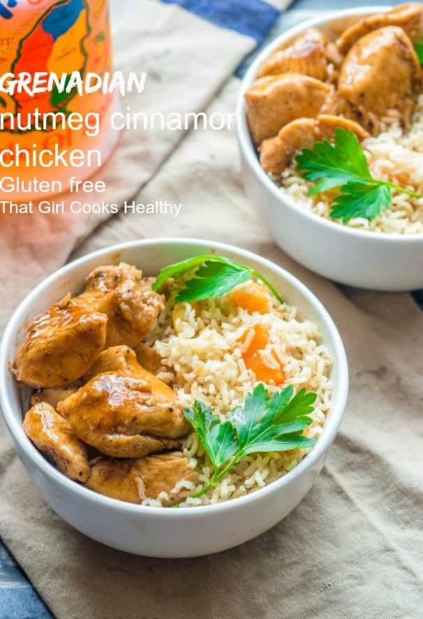Grenadian nutmeg chicken cinnamon recipe - succulent pieces of tender chicken that is seared in a pan and braised in a sweet spice infused syrup.