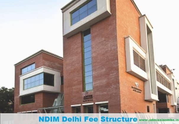 NDIM Fee Structure