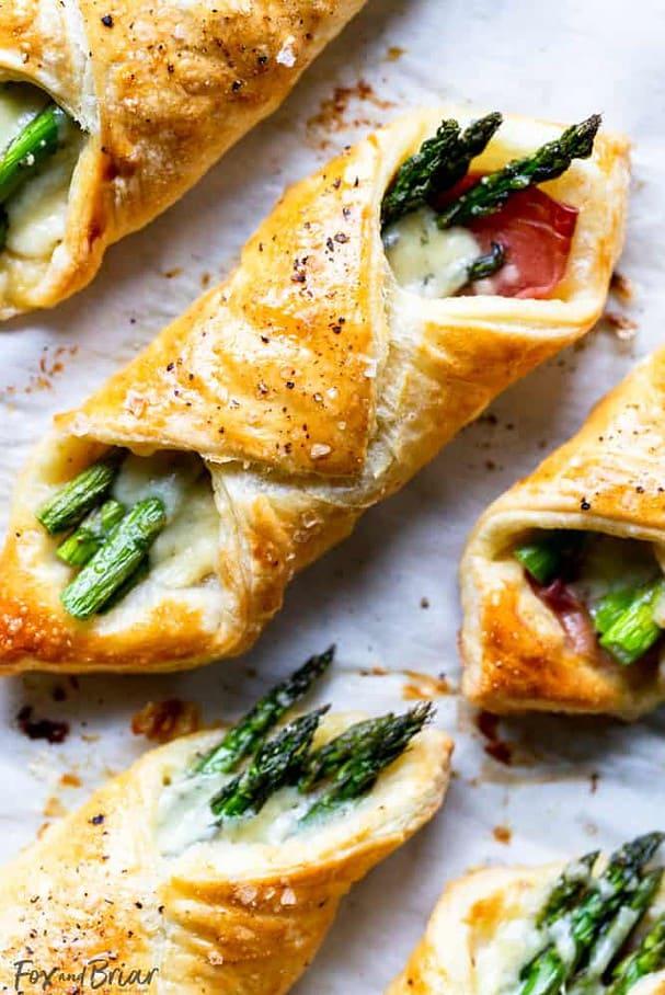 Prosciutto Asparagus Puff Pastry