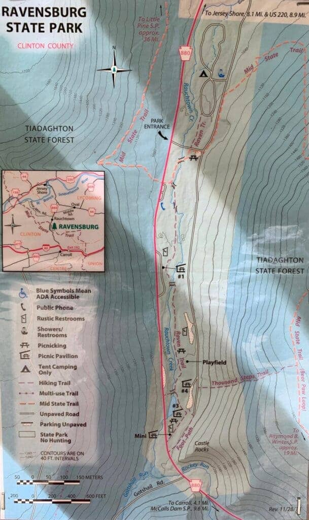 ravensburg state park map board