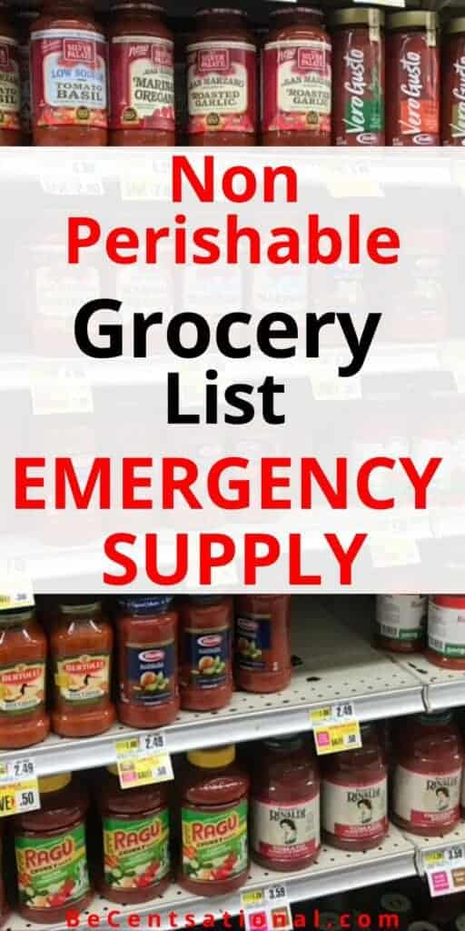 How to stock on food for an emergency