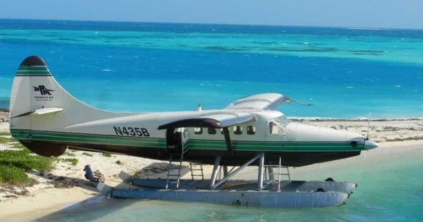 We loved watching the seaplanes land and take off from the beach right next to Fort Jefferson in Dry Tortugas National Park. (Photo: Bonnie Gross)