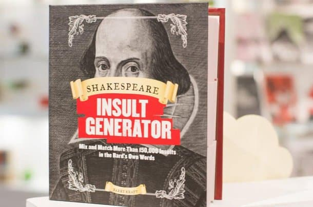 A book with mix-n-match Shakespearian insults. Just for fun.