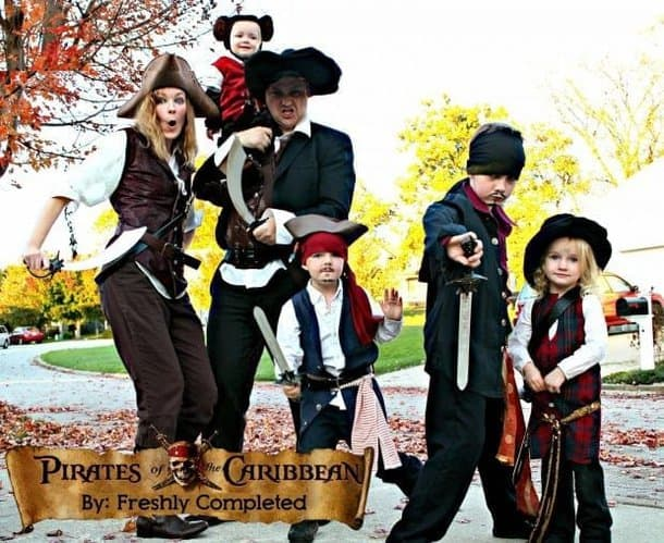 Pirates of the Caribbean Family Costume
