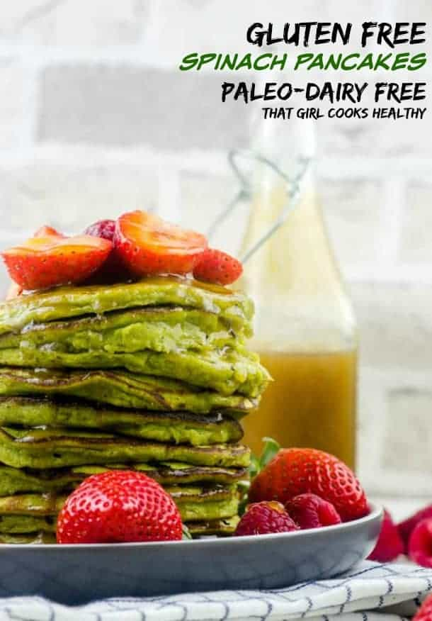 Kids and adults alike will go crazy for these leafy green gluten free spinach pancakes