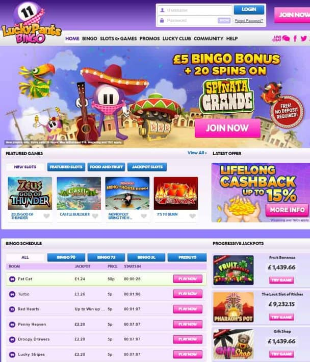 Lucky Pants Bingo Casino Review