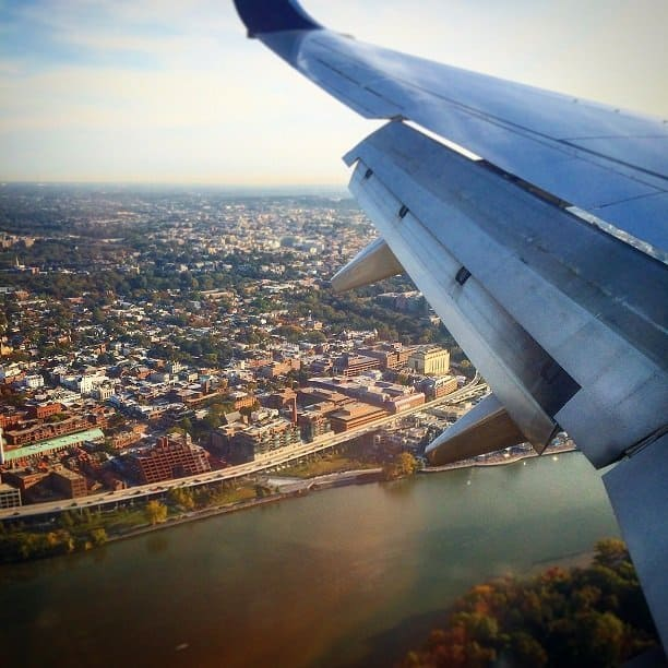 travel tips - picture of plane wing