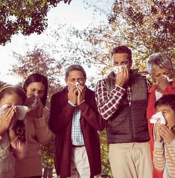 Familia con resfriado