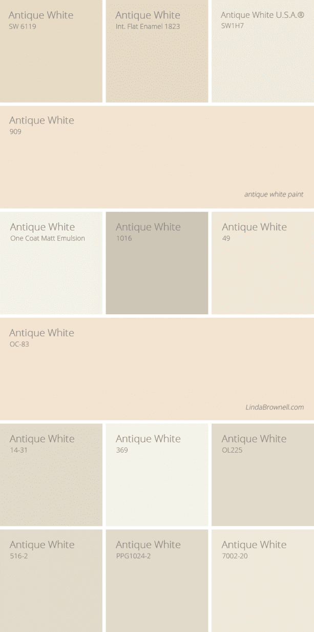 antique white paint color