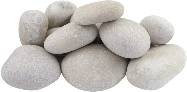 "3"" up to 5"" Caribbean white beach pebbles"
